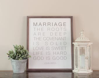 Marriage Sign - Wedding Gift - John Piper Sign