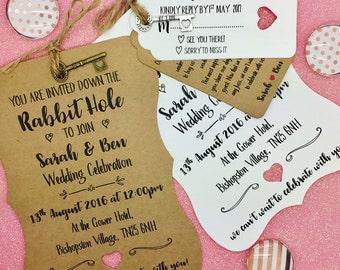 alice in wonderland wedding invitation  etsy, Wedding invitations