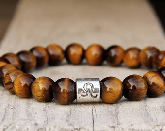 leo star sign horoscopic gift Birthstone jewelry Leo Bracelet Birthstone bracelet Leo jewelry Zodiac jewelry Zodiac gift Horoscop leo zodiac