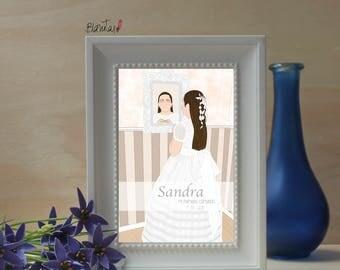Communion personalized illustration portrait