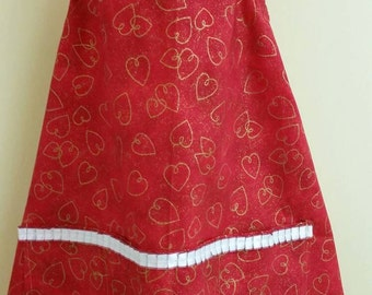 Red sweet heart apron