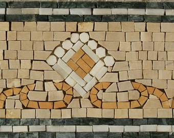 Chic Classy Border Listello for Indoor Outdoor Marble Mosaic BD1058