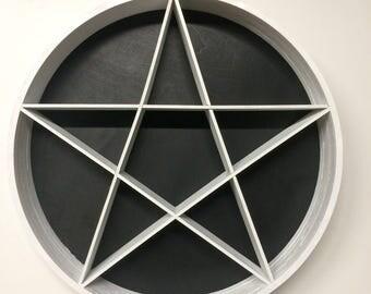 Pentacle/Pentagram Shaped Trinket Shelf/Wall Hanging