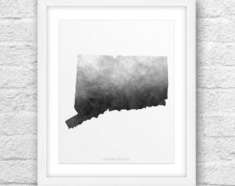 Connecticut Map, Connecticut Print, Connecticut Art,Connecticut State,Minimalist Art,Connecticut Printable,Instant Download,Connecticut 8x10