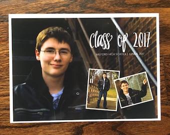 Triple Photo Graduation Announcement, Class of 2017