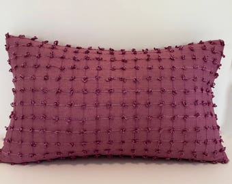 Designer Silk Accent Throw Pillow -Berry Plum Pillow Cover - Decorative Pillow