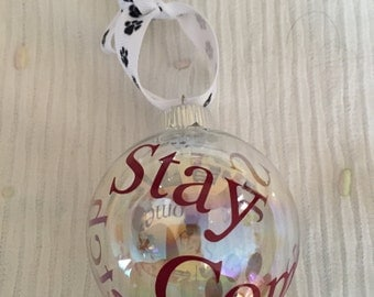 Puppy or Dog Glass Ornament - Pet decoration - Gift for Pet Owner