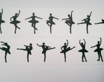 Washi tape black white ballerina