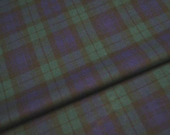 Polyester/Viscose Black Watch Tartan