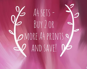 A4 print sets - select 2 or more A4 prints and save!