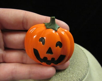 Vintage Halloween Ceramic Pumpkin Pin