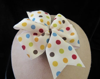 Vintage White & Polka Dotted Bow Hair Barrett