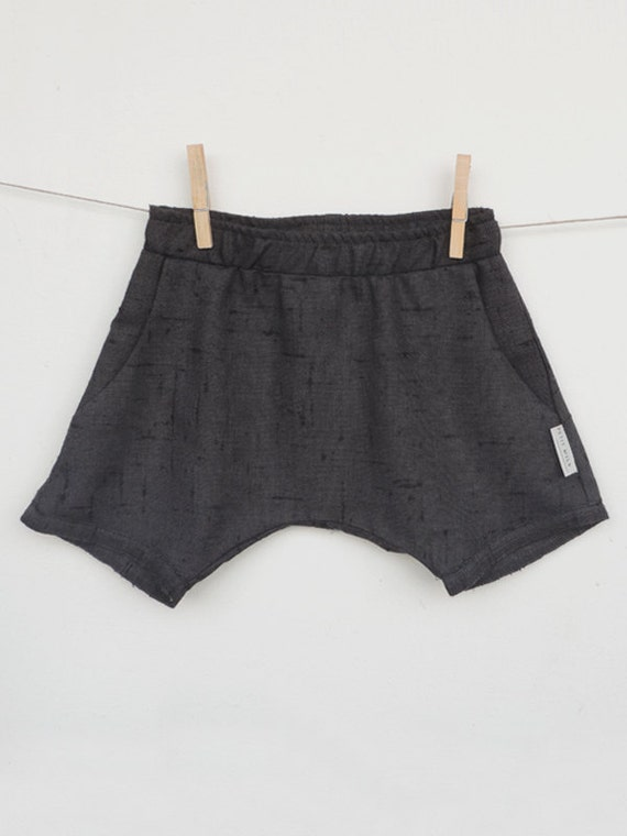 Boys Shorts, Girls Shorts, Natural Linen Shorts, Baby Shorts, Toddlers Black Shorts, Hipster Toddler Clothing, Summer Clothes Toddlers