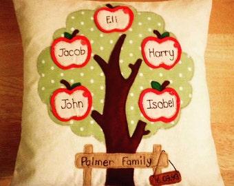 Family Tree Stitched Cushion