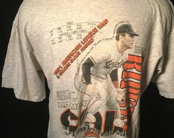 Vintage 1991 Cal Ripken Baltimore Orioles T-Shirt Salem MVP