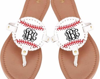 Baseball sandals, softball sandals,Baseball sandals, Baseball shoes, Baseball, Monogrammed sandals, softball shoes, Personalized sandals