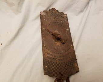 Purina Cow chow Milk scale Brass nice Advertising