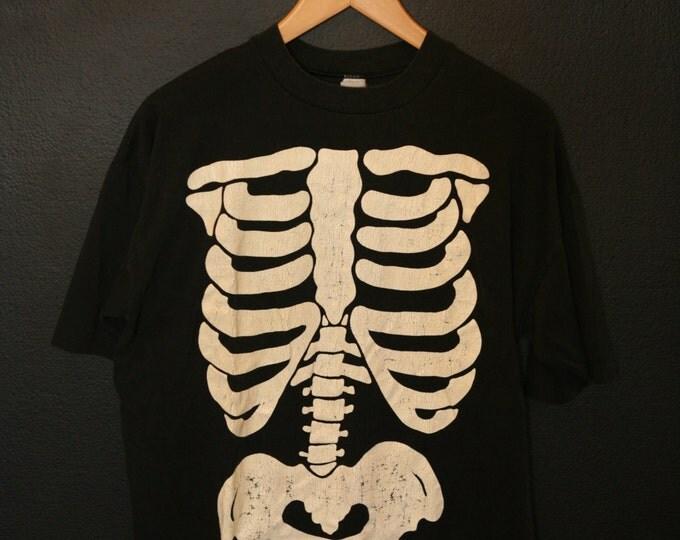 Halloween Skeleton Glow in the Dark 1990's vintage Tshirt