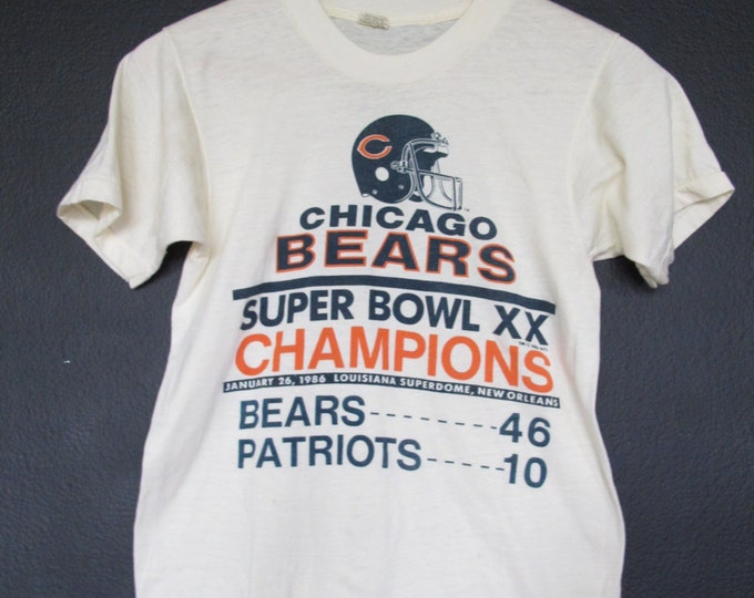 Chicago Bears Superbowl XX 1986 vintage Tshirt