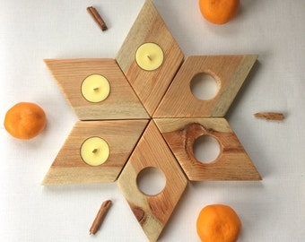 Tea Light Soy Candle Set - Reclaimed Wood