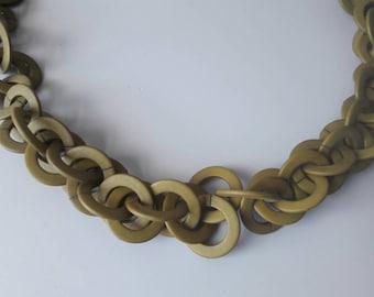 Seventies Mossgreen Necklace
