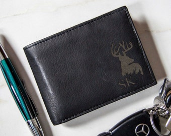 Personalized leather Wallet, Custom wallet, Mens Wallet, Engraved Mens Wallet, Leather Wallet, Fathers Day, Valentine gifts, RFID wallets