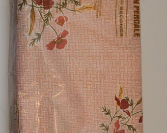 New Old Stock Vintage Twin Flat Sheet- Pink-Orange-Coral