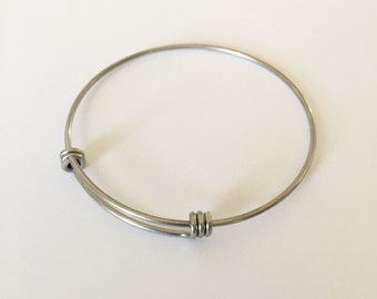 UPGRADE: Stainless Steel bangle bracelet upgrade / Adjustable / Add-on / 60mm stainless steel