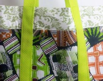 African print handmade diaper bag, handbag, Baby bag,tote-Patchou