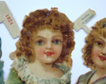Gingerbread vintage labels / old label of French bakery / commercial label of 1924 made in Germany