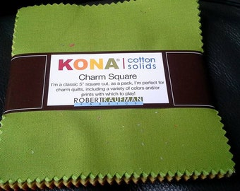 Kona Cotton Solids Charm Pack