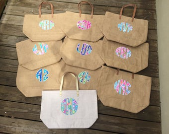 Lilly Pulitzer Jute Bag