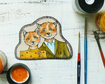 Fantastic Mr Fox Patch Iron on Patches for jackets Back patch Funny Patches Forest Patch Applique Embroidered Backpack patches Cute