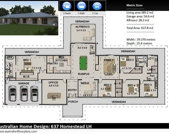 637m2 | 5 Bedrooms | Country Style home plans | country house deigns | country style homes | rural home designs| country style home designs