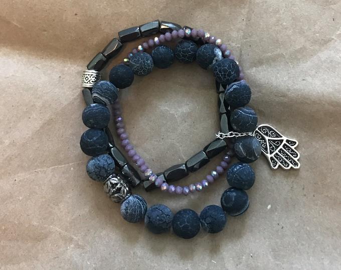 Stretchy stacks bracelet