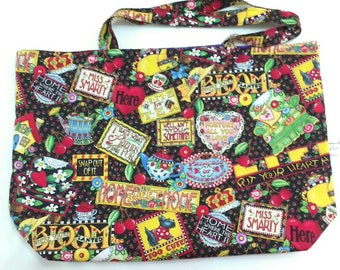 Large Tote, shopping, bag, reusable, Beach bag, Holiday Bag,