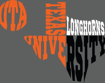 Texas University Texas SVG DXF