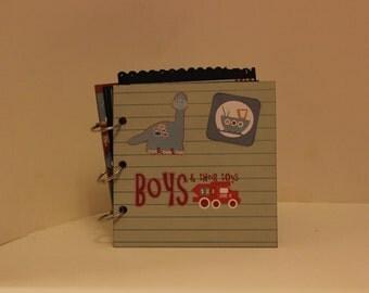 Little Boy Scrapbook mini album 6x6