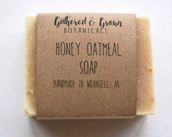 Honey Oatmeal Soap | All natural cold process soap, sensitive skin soap, moisturizing soap