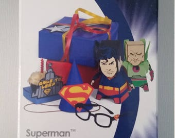 Superman Cricut Cartridge linked Very Rare Hard to Find Retired Use with older Cricut Expression 1 2 superhero die cuts party decor