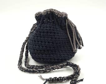 Crocheted Pouch, Crocheted Trinket Bag, Hand Crocheted Bag, Cotton Crocheted Pouch, Dice Bag, Coin Purse, Small Gift Bag, Small Pouch