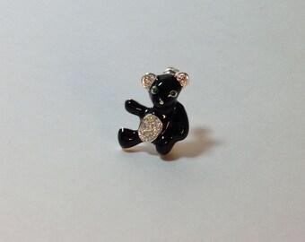 Costume Jewelry Black Bear Pin Bear Lover Costume Jewelry Lover Black Bear Lover Bear Collector