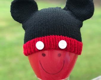 Mickey Mouse inspired Baby Hat