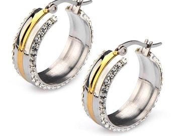 Hoop  Earrings, Stainless Steel Hoop  Earring