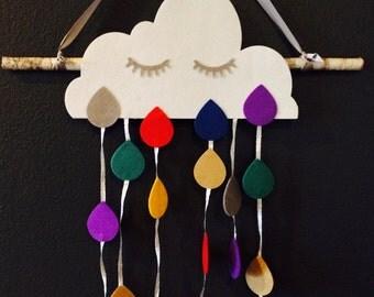 Sleepy Cloud Mobile Wall Art Home Decor Nursery