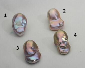 13.8-16mm Large Metallic Baroque Pearl,Fireball Pearl,Flameball Loose Pearl,AAA quality,FCMP002