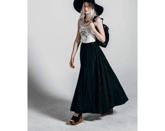 Black Horse Western A-line Skirt