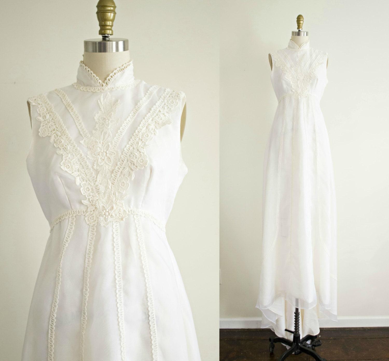 Victorian inspired bohemian vintage wedding dress chiffon for Victorian inspired wedding dress
