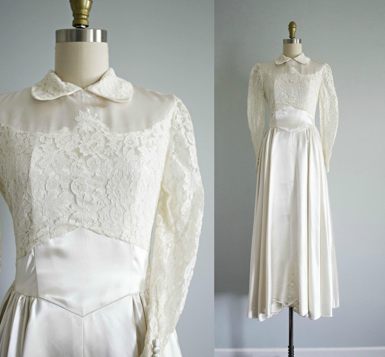 1940s wedding dress | Etsy