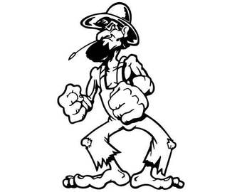 Redneck / Hillbilly Guy Decal (#003)